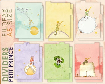 Petit Prince _ dividers for A5 planner