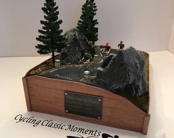 Tour de France 1949 Bicycle Race Diorama Handmade in USA