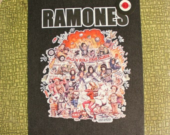 Ramones Rock N Roll High School heat press transfer iron on for t-shirts, sweatshirts