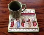 kit; pair of Christmas mug rugs, great for milk & cookies for Santa