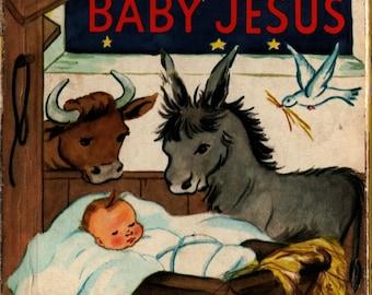 Baby Jesus Board Book - 1986 - Vintage Kids Book