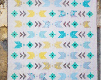 Kati Cupcake Pattern Co. - SEW EDGY - Southwestern / Modern AZTEC - Quilt Pattern - Baby & Throw Sizes