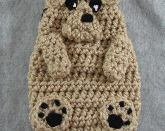 Airedale Dog Coin Purse Crochet Pattern In USA Terms, PDF, Digital Download