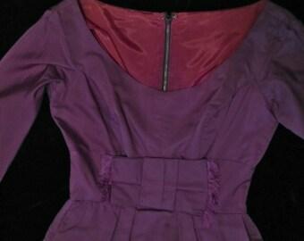 Dress // Jonny Herbert, Purple Taffeta, Fit and Flare 50s small