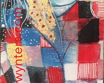 Winter Jewels- Original painting by Maria Pace-Wynters
