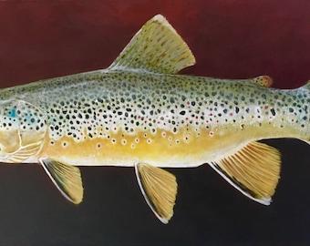 Beaverhead Brown, Portrait - original oil painting