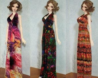 68cm BJD Halter Maxi Dress Boho Resort