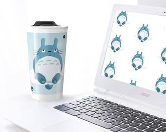 Totoro fanart - Travel mug for hot or cold beverages