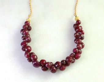 Ruby Duality...Understated Excess 290 ctw Focal Necklace...