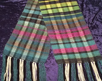 Scarf, Handmade Scarf, Mens Scarf, Women's Scarf, Plaid Scarf, Scarves, Present for him, Scarf for her, Gift, Autumn Scarf, Present For Her