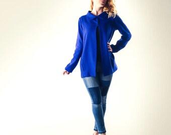 Wool Jacket, Blue blazer, Womens jacket, Wool cardigan, Sweater, Womens clothing, Winter coat, Wool blazer, Light jacket, Spring coat