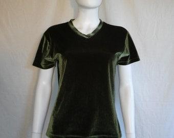 90's velvet top shirt