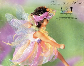 Simplicity 0643 FAIRY COSTUME w/ WINGS Valerie Tabor-Smith - Also published as Simplicity 0691, 8838 English & Spanish Instructions