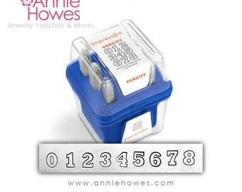 Impressart Metal Stamps - Varsity 6mm Numbers Set