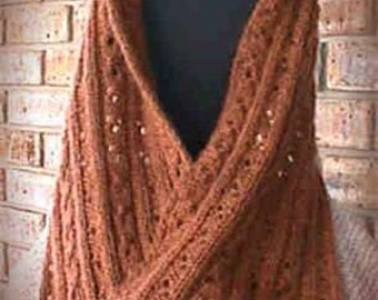 Knitting Scarf Soft Cables Moebius Infinity Wrap Pattern