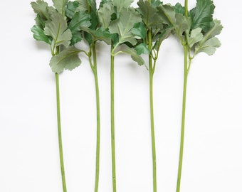 ONE Realistic Floral Stem with Foliage/Leaves - 19.5 inches - Artificial Stems - Floral Arrangement - DIY Wedding bouquets - ITEM 01075-1