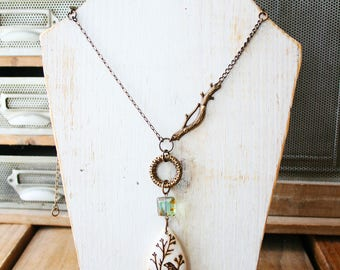 Woodland Sparrow Long Necklace