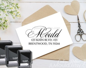 1002 Personalized Address Stamp - Custom Return Address Stamp - Self Inking by JLMould Family Modern Family