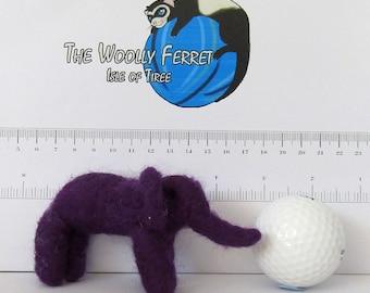 Needle Felted baby elephant