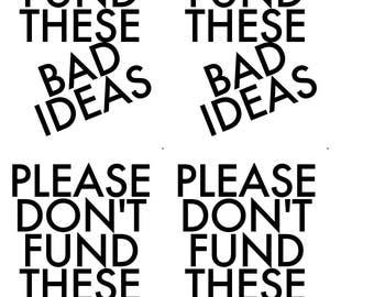 instant download postcard don't fund bad ideas political postcard protest resist