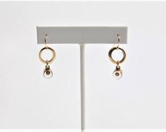 Mustard Seed Hoop Earrings / Inspirational Earrings / Faith of A Mustard Seed / Drop Earrings / Symbolic Jewelry - by Allie M.