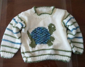 Turtle Sweater for baby