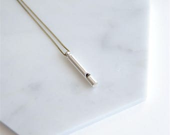 Silver Whistle Necklace. Gift for Graduation. Mom Jewelry For Her Under 50. Best Friends Necklace. Gift For Teacher. For Daughter Safety.