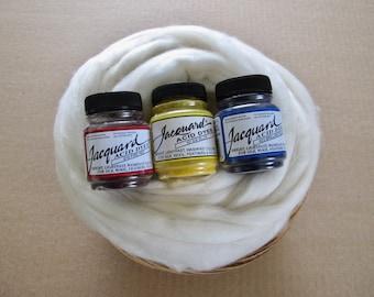 Dye Your Own Wool Gift Basket / Learn to Dye Wool Basket / Jacquard Dyes / Merino Wool / Instructions
