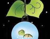 Zipper Charm - Floating Turtle