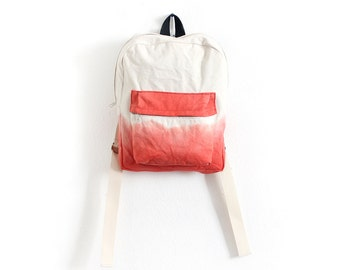 Scarlet red dyed backpack I
