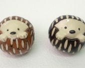 Ceramic Hedgehog Bead Necklace
