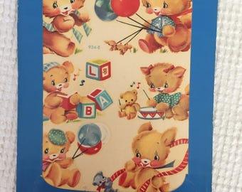 Vintage Meyercord Brand Home Decals - Set of 6 Adorable Nursery Animal Images in Original Unopened Package - A Vintage Nursery Dream Find