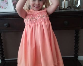 Size 3 Hand Smocked Dress