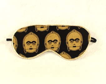 Star Wars Black and Metallic Gold C3P0 Sleep Eye Mask