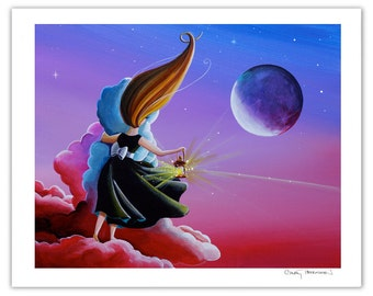 Dreamer Series Limited Edition - Moon Whisperer - Signed 8x10 Semi Gloss Print (3/10)