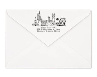 Chicago, Illinois Custom Return Address Stamp