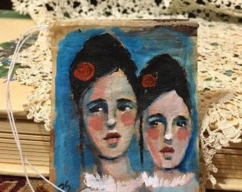 Tea Bag Portrait # 47  Sisters and Friends