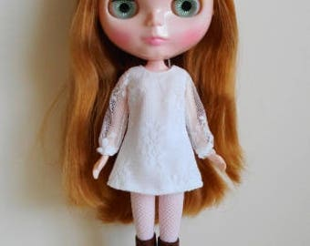 White lace dress for Blythe