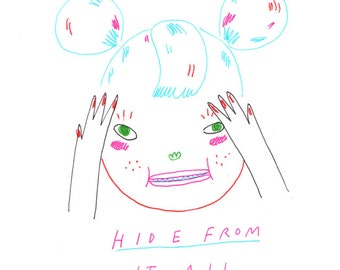 hide from it all - print