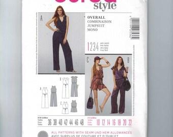Misses Sewing Pattern Burda 7536 Jumpsuit Romper Size 10 12 14 16 18 20 22 UNCUT