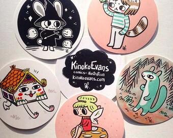 5 Sticker Set