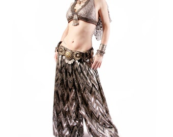 Pantaloons, YOUR SIZE, Silver Sequin, Wide Leg Pants, Bloomers, Dance, Tribal, Bellydance, Like Assuit, Cabaret, Fusion Boutique