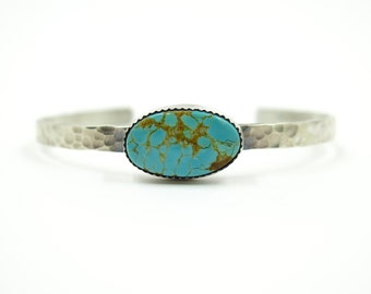 Good Karma Cuff with Number 8 Turquoise