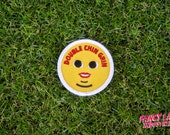 Double Chin Grin - Girth Guides patch for fat activists