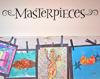 Masterpieces Wall Decal vinyl lettering for kids art display