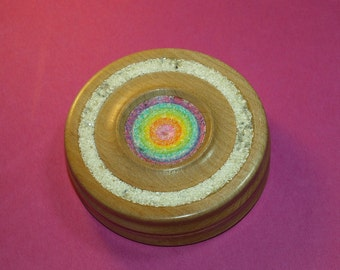 Spindle bowl with Glitter and Eggshell