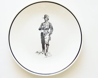 Vintage Frederic Remington Plates / 1990 Brown & Bigelow Made in USA / Set of 2 / Rugged Western Home Decor / Unique Gift Under 50
