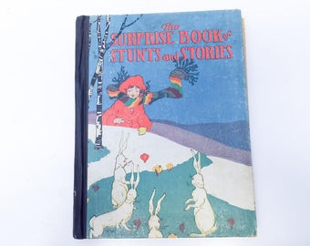 The Surprise Book of Stunts and Stories - 1920s activity book