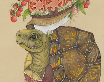 Turtle Cards Tomato Cards Tortoise Cards Letter T Cards Set Rustic Card Set T is for Turtle T is for Tomatoes Reptile Cards Tortue Tomate