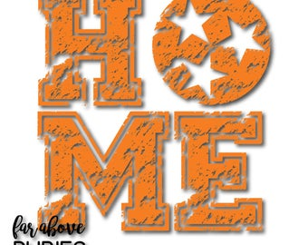 Distressed HOME State of Tennessee Tri-Star Rocky Top SVG, EPS, dxf, png, jpg digital cut files for Silhouette Cricut Tn See Warning Below